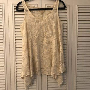 Anthropologie Cream Lace Flowy Top - Size S